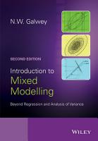 Introduction to Mixed Modelling PDF
