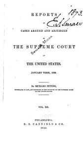 United States Reports: Cases Adjudged in the Supreme Court, Volume 37