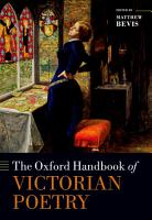 The Oxford Handbook of Victorian Poetry PDF
