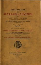 Dictionnaire des ouvrages anonymes: Volume 1