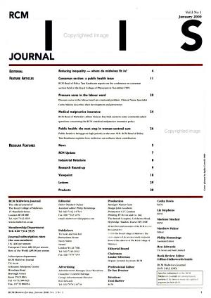 RCM Midwives Journal