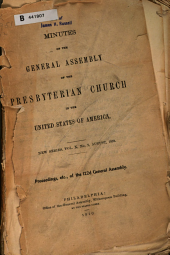 Minutes - United Presbyterian Church in the U.S.A.: Volume 10, Issue 2