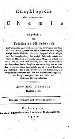 Encyklop  die der gesammten Chemie PDF