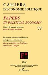Pauvreté et misère dans l'histoire de la pensée économique