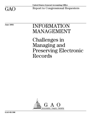 Information management challenges in managing and preserving electronic records