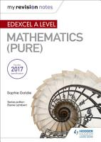 My Revision Notes  Edexcel A Level Maths  Pure  PDF