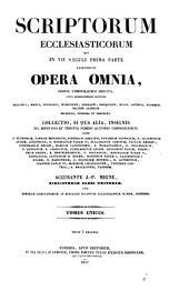 Patrologiae latina cursus completus ... series secunda: Volume 80