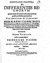 Disp. pol. de differentiis regnorum