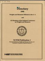 Directory ... Weights and Measures Officials in the U.S. and All Members of the National Conference on Weights and Measures