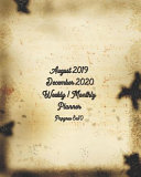 August 2019 - December 2020 Weekly / Monthly Planner Papyrus 8x10