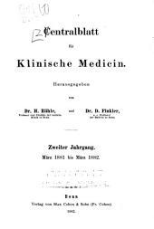 Zentralblatt fuer innere medizin: Volumes 2-3