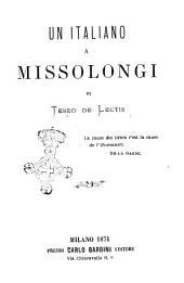 Un italiano a Missolongi di Teseo De Lectis