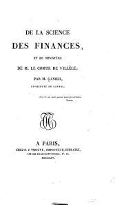 De la science des finances, et du ministère de M. le comte de Villèle