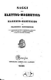 Saggi dell'elettro-magnetico e magneto-elettrico