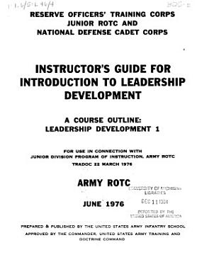 Instructor s Guide for Introduction to Leadership Development PDF