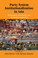 Party System Institutionalization in Asia PDF