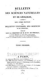 Bulletin des sciences naturelles et de géologie: Volume1