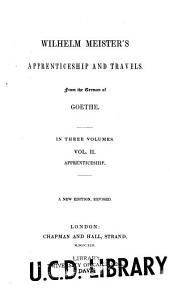 Wilhelm Meister's Apprenticeship and Travels: Volume 2