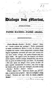 Dialogo dos Mortos  on Portuguese politics   Interlocutores Padre Macedo Padre Amaro Book