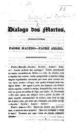 Dialogo Dos Mortos  On Portuguese Politics   Interlocutores Padre Macedo Padre Amaro