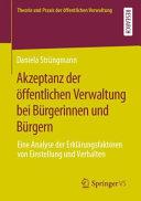 Akzeptanz der   ffentlichen Verwaltung bei B  rgerinnen und B  rgern PDF