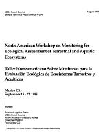 North American Workshop on Monitoring for Ecological Assessment of Terrestrial and Aquatic Ecosystems PDF