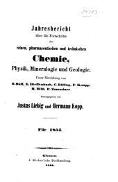 Jahresbericht über die Fortschritte der Chemie und verwandter Theile anderer Wissenschaften