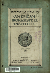 Bulletin of the American Iron and Steel Institute: Volume 5, Issue 4