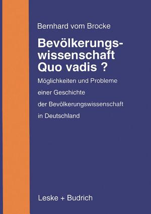 Bev  lkerungswissenschaft     Quo vadis  PDF