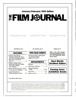 The Film Journal PDF