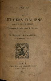Les luthiers italiens aux XVIIe et XVIIIe siècles