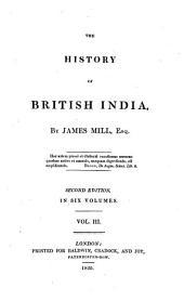 The History of British India: Volume 3