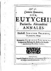 Contextio Gemmarum, sive Eutychii Patriarchae Alexandrini Annales