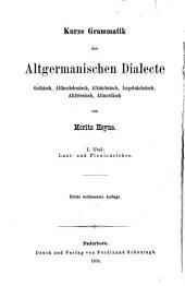 Kurze Laut- und Flexionslehre der altgermanischen Dialecte