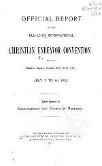 Official Report of the ... International Christian Endeavor Convention