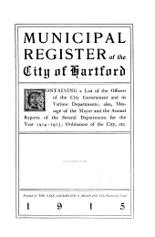 Municipal Register of the City of Hartford
