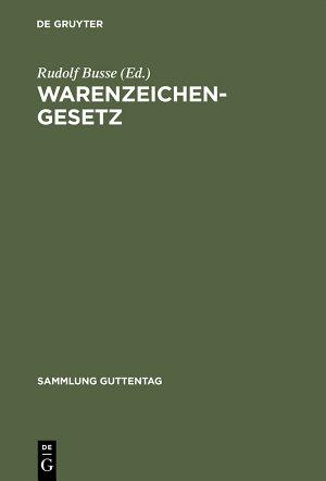 Warenzeichengesetz PDF