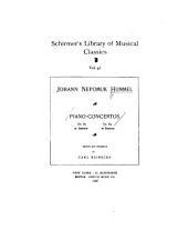 Piano-concertos: op. 85 in A minor ; op. 89 in B minor