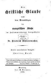 Der christliche Glaube: Nach den Grundsätzen der evangelischen Kirche im Zusammenhange dargestellt, Band 2