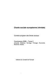 Comite Europeen Des Droits Sociaux: Charte Sociale Europeenne Conclusions 2006 (Lituanie, Moldova, Norvege, Portugal, Roumanie, Slovenie, Suede)