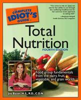 The Complete Idiot s Guide to Total Nutrition PDF