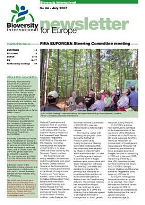 Bioversity International  Newsletter for Europe
