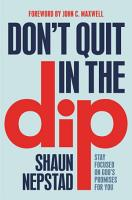 Don t Quit in the Dip PDF