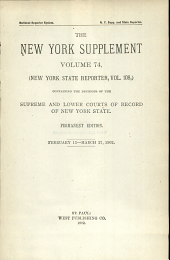 New York Supplement: Volume 74