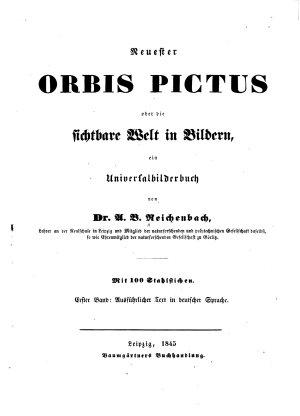 Neuester orbis pictus  oder  Die sichtbare Welt in Bildern  Bd  Ausf  hrlicher Text in deutschen Sprache