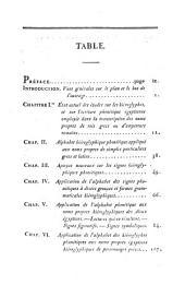 Précis du système hiéroglyphique des anciens Egyptiens ou recherches sur les élémens premiers de cette écriture sacrée, sur leurs diverses combinaisons, et sur les rapports de ce système avec les autres méthodes graphiques égyptiennes: Volume1