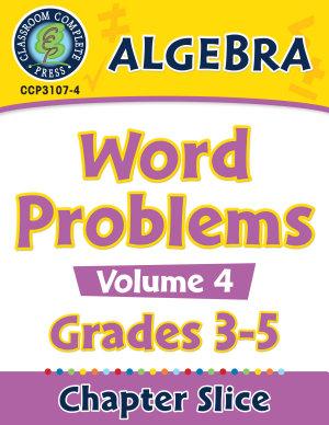 Algebra  Word Problems Vol  4 Gr  3 5