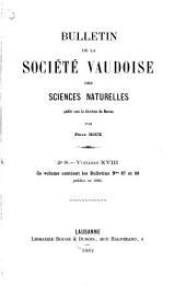Bulletin de la Société vaudoise des sciences naturelles: Volume18