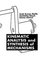 Kinematic Analysis and Synthesis of Mechanisms PDF