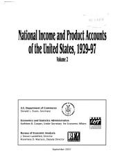 National Income and Product Accounts of the United States  1929 97 PDF